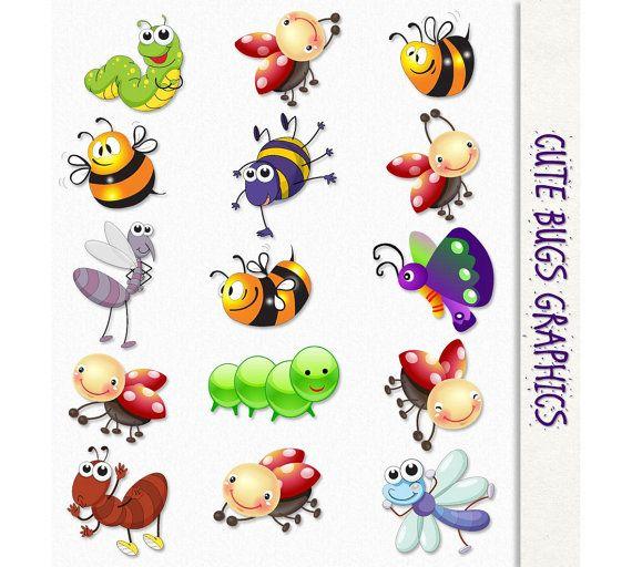 Bug clipart printable. Cute bugs clip art