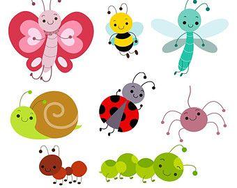 Cute bug digital instant. Bugs clipart clip art