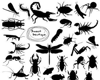Bug clipart silhouette. Praying mantis silhouettes digital