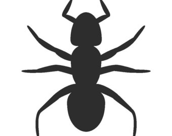 Bee clip art at. Bug clipart silhouette