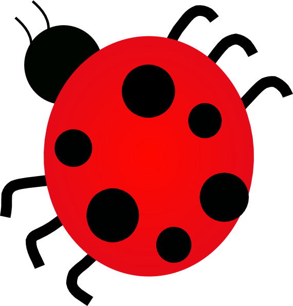 Lady bug clip art. Coloring clipart insect