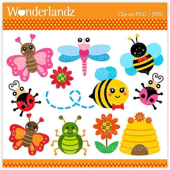 Insect clipart spring. Cute bug