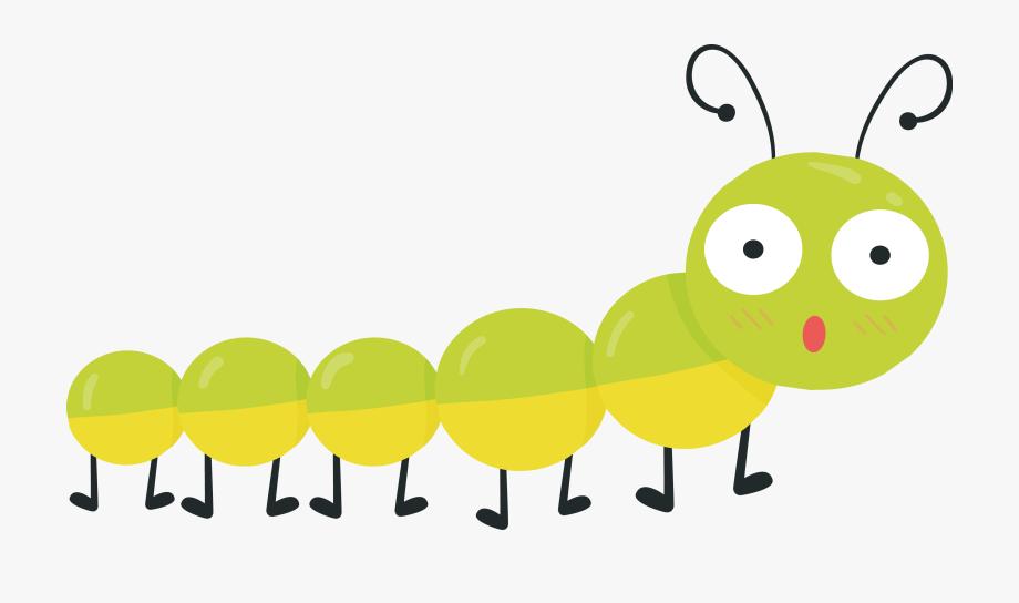 Caterpillar clipart cartoon. Spring bug transprent png