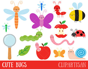Clip art insect cute. Bug clipart summer