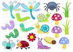 Wallpaper do desenho fundo. Bug clipart summer