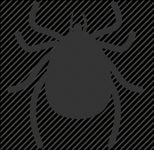 Flea png black and. Bug clipart tick