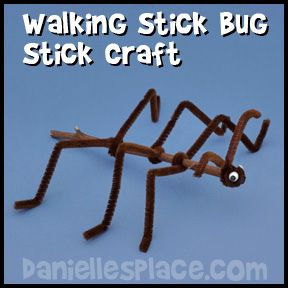 Bug clipart walking stick. Craft from www daniellesplace