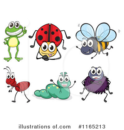 Bugs clipart. Illustration by graphics rf
