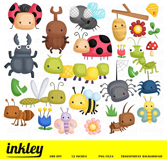 Bugs clip art png. Bees clipart ladybug