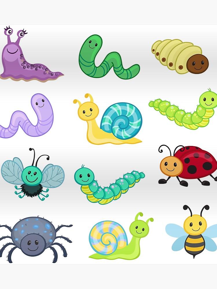Bugs clipart. Big bundle set cute
