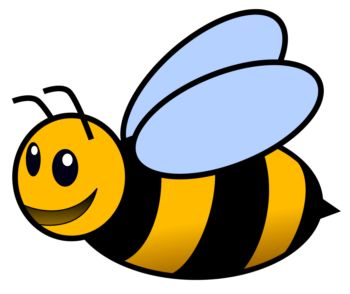 Clipart bee pencil. Insect and in color
