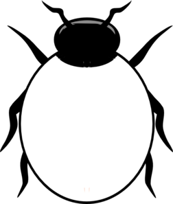 Bugs clipart black and white. Insect panda free images