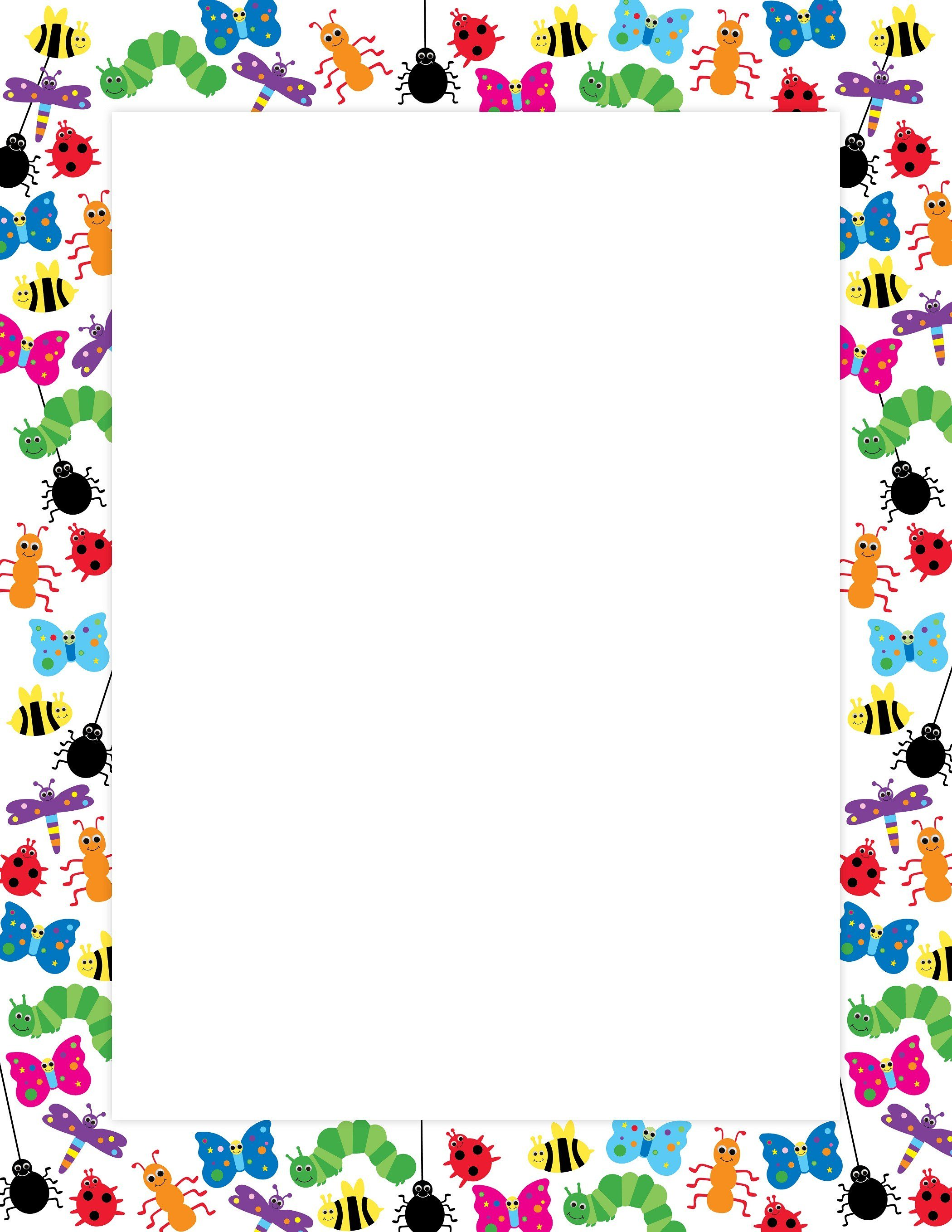 Bugs clipart border. Bug poster