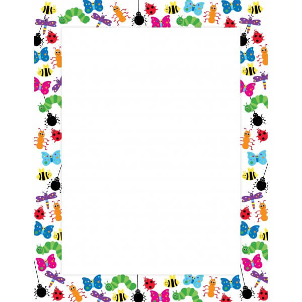 Bug poster . Bugs clipart border