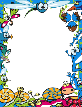 Cute bug png page. Bugs clipart border