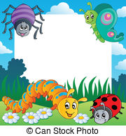 Insect clipart borders. Free bug border cliparts