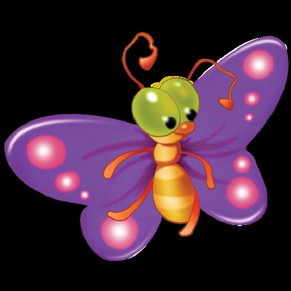 Bugs clipart butterfly. Cute cartoon clip art