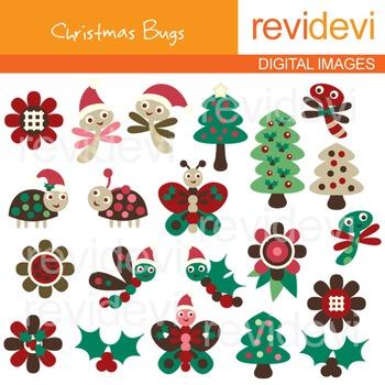 Ladybugs clipart christmas. Clip art bugs trees
