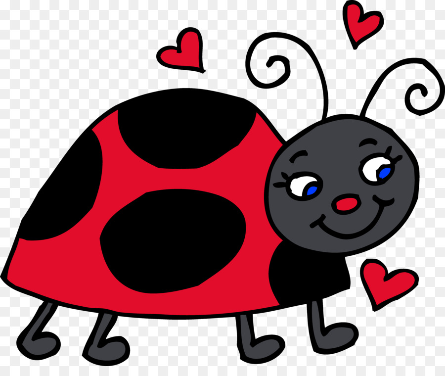 Ladybird nose transparent . Bugs clipart clip art