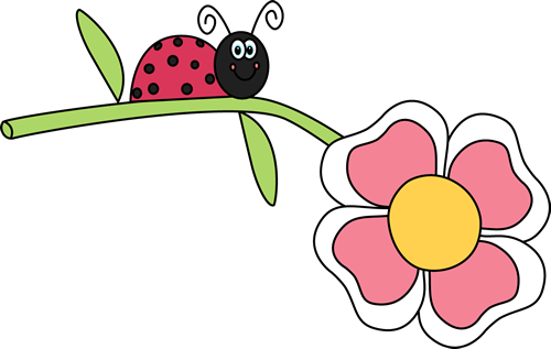 Flower insect clipground clip. Bug clipart summer