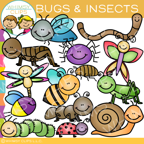 Insects and clip art. Bugs clipart insect