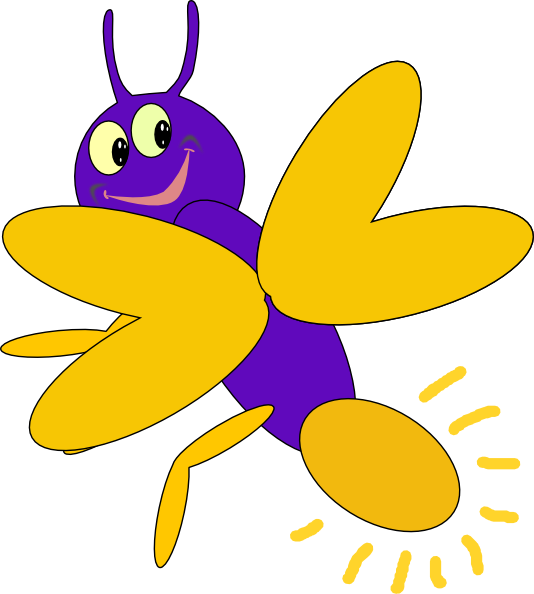 Purple clip art at. Firefly clipart