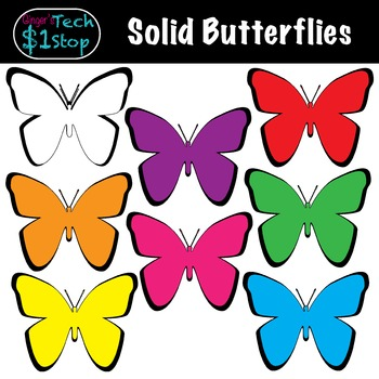 Butteryfly spring bugs tpt. Insects clipart summer