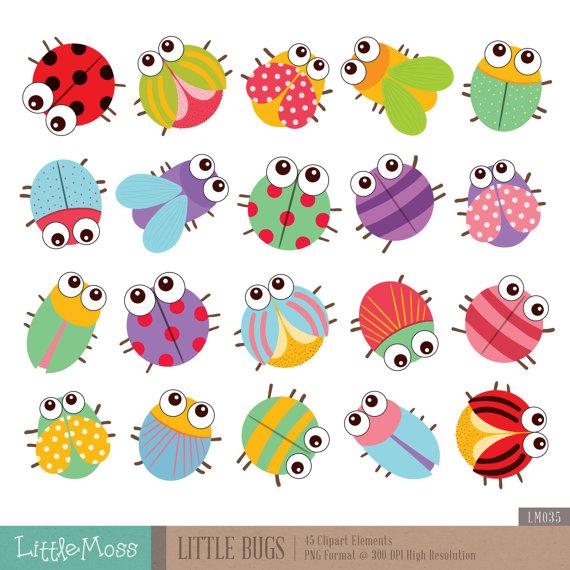 Bugs clipart. Little