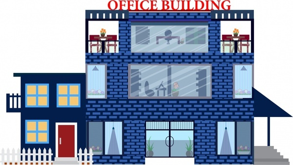 Office clip art free. Building clipart