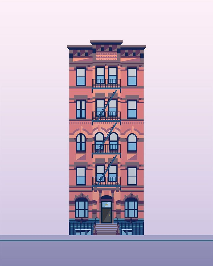 Vector illustration of a. Building clipart apartment complex