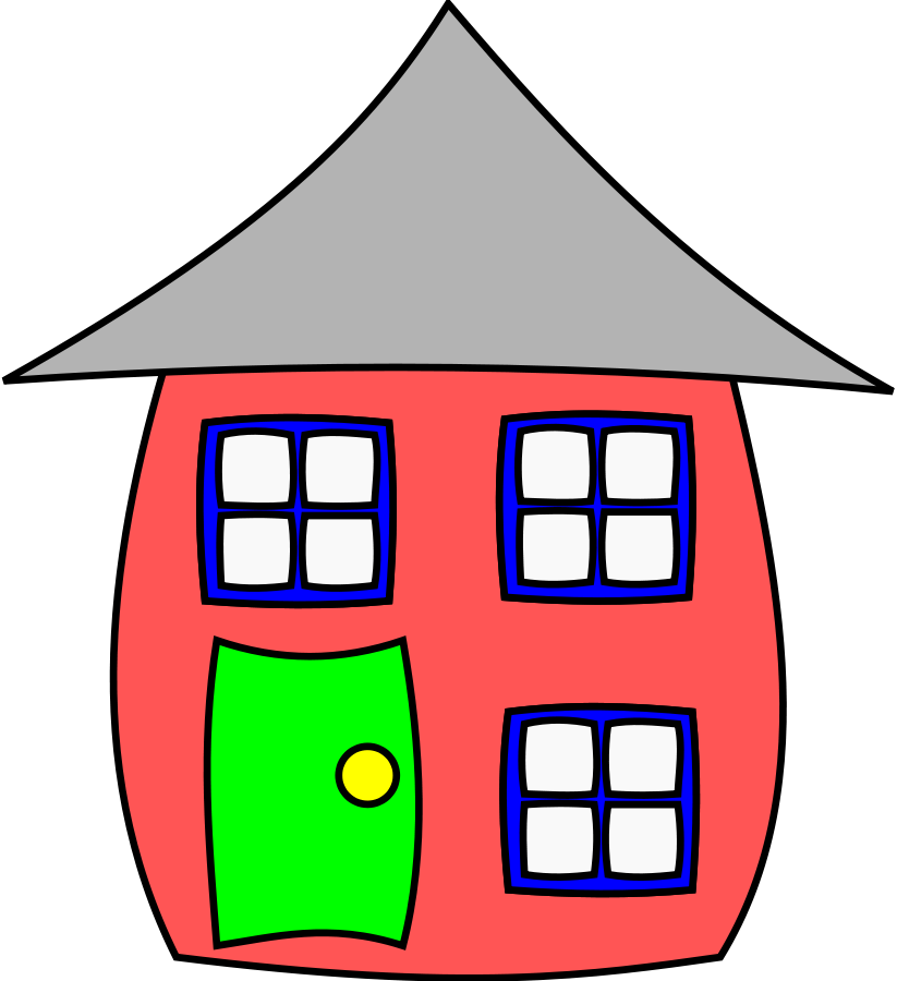 Apartment complex townhouse . Record clipart cartoon