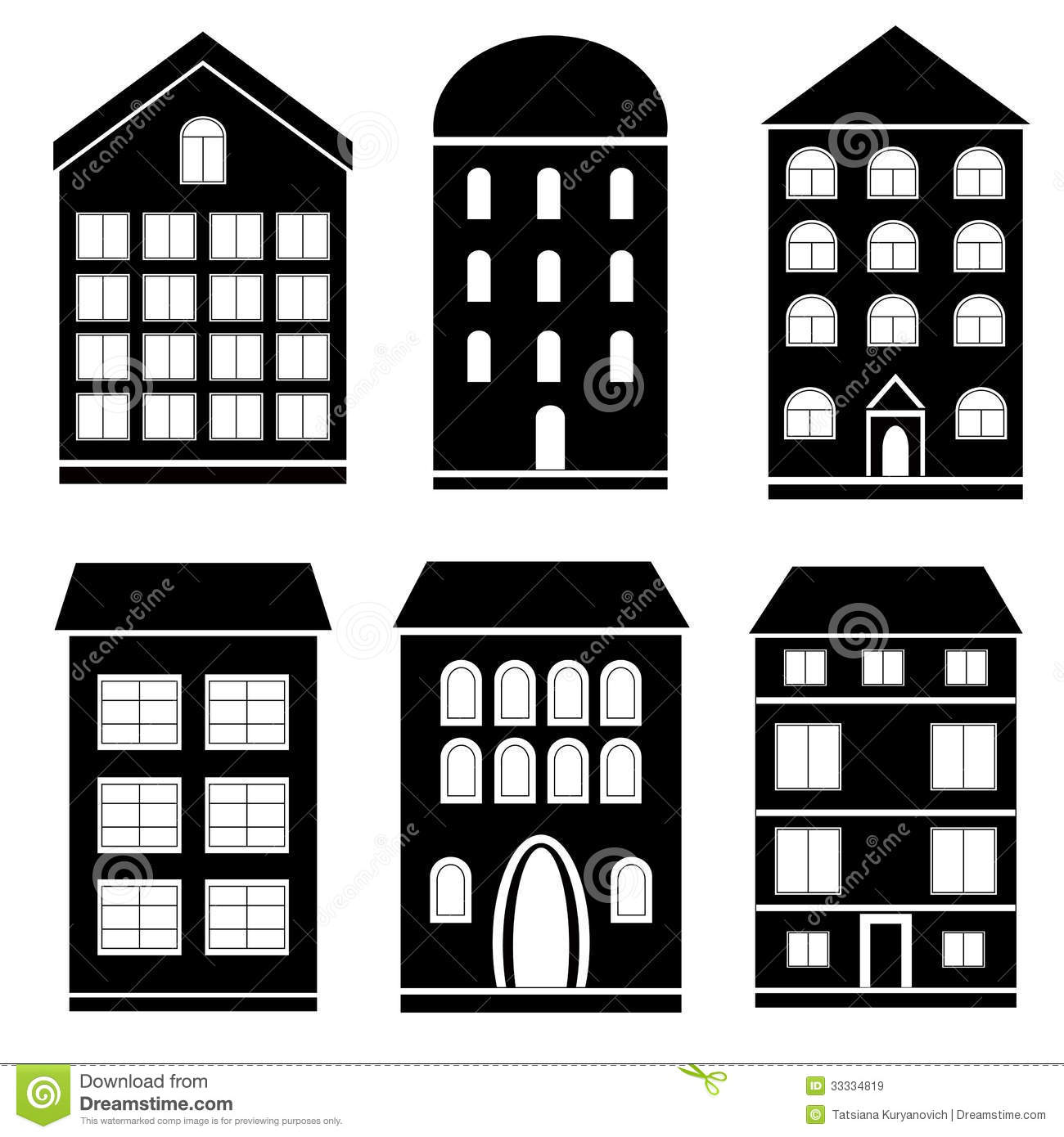 Station . Building clipart black and white
