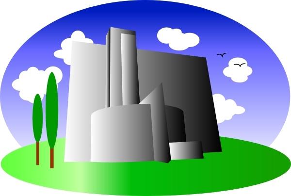 Buildings clipart vector. Industrial building clip art