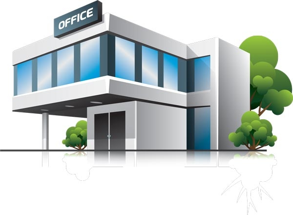 Office pencil and in. Building clipart business building