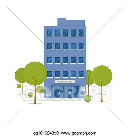 Vector illustration . Building clipart business building