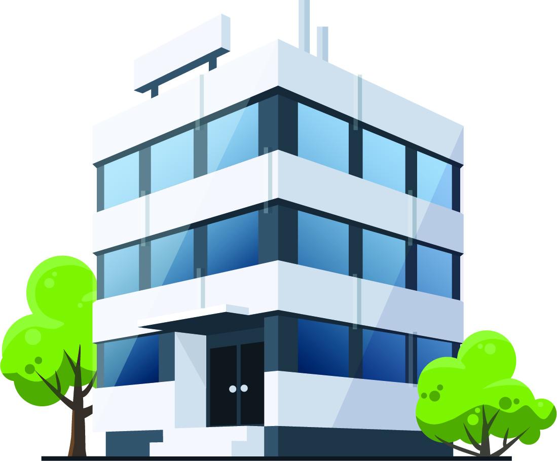 Building clipart business building. Up out edmonton s