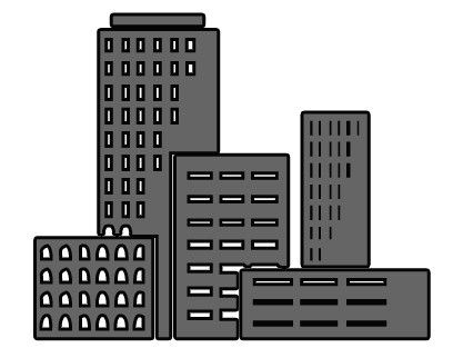 Black and white https. Building clipart business building