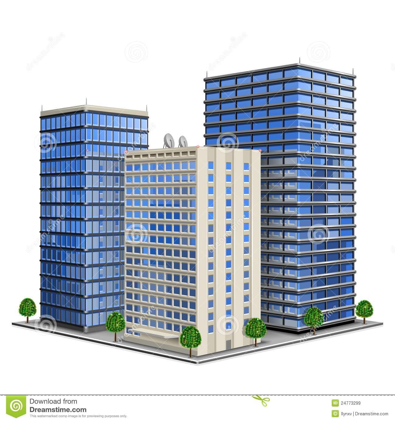 Towers business building pencil. Buildings clipart headquarters