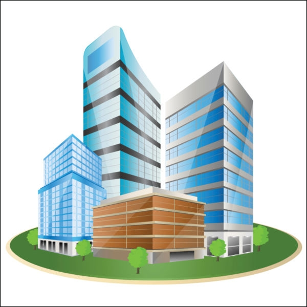 Building clipart business building. Architecture pencil and in