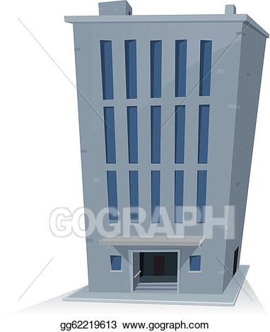 Building clipart cartoon. Vector office illustration