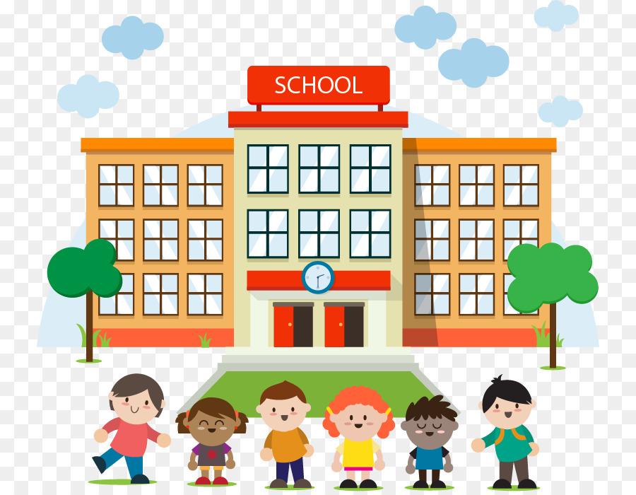 School . Building clipart cartoon