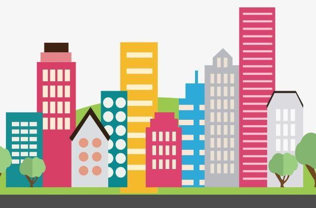 House city high rise. Building clipart cartoon