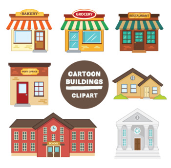 Buildings by mr guera. Building clipart cartoon