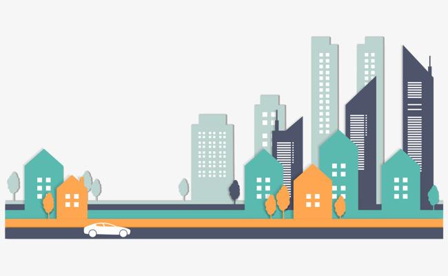 Buildings clipart vector. Stylish city building clip