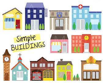 Shop store building logo. Buildings clipart