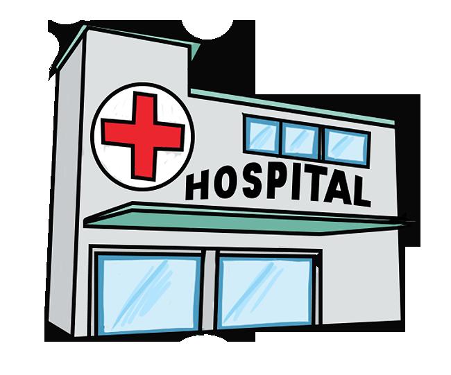 Health center building clip. Hospital clipart hospital department