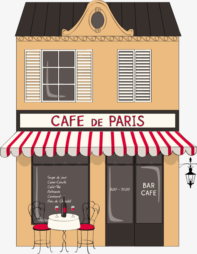 Paris flat building png. Cafe clipart coffee shop