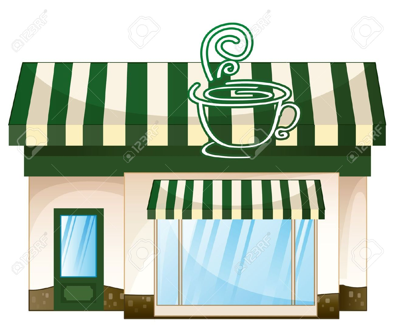 Buildings clipart coffee shop. Cafe building pencil and