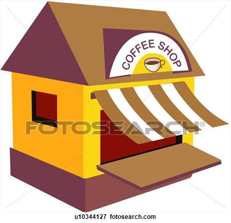 Building . Buildings clipart coffee shop