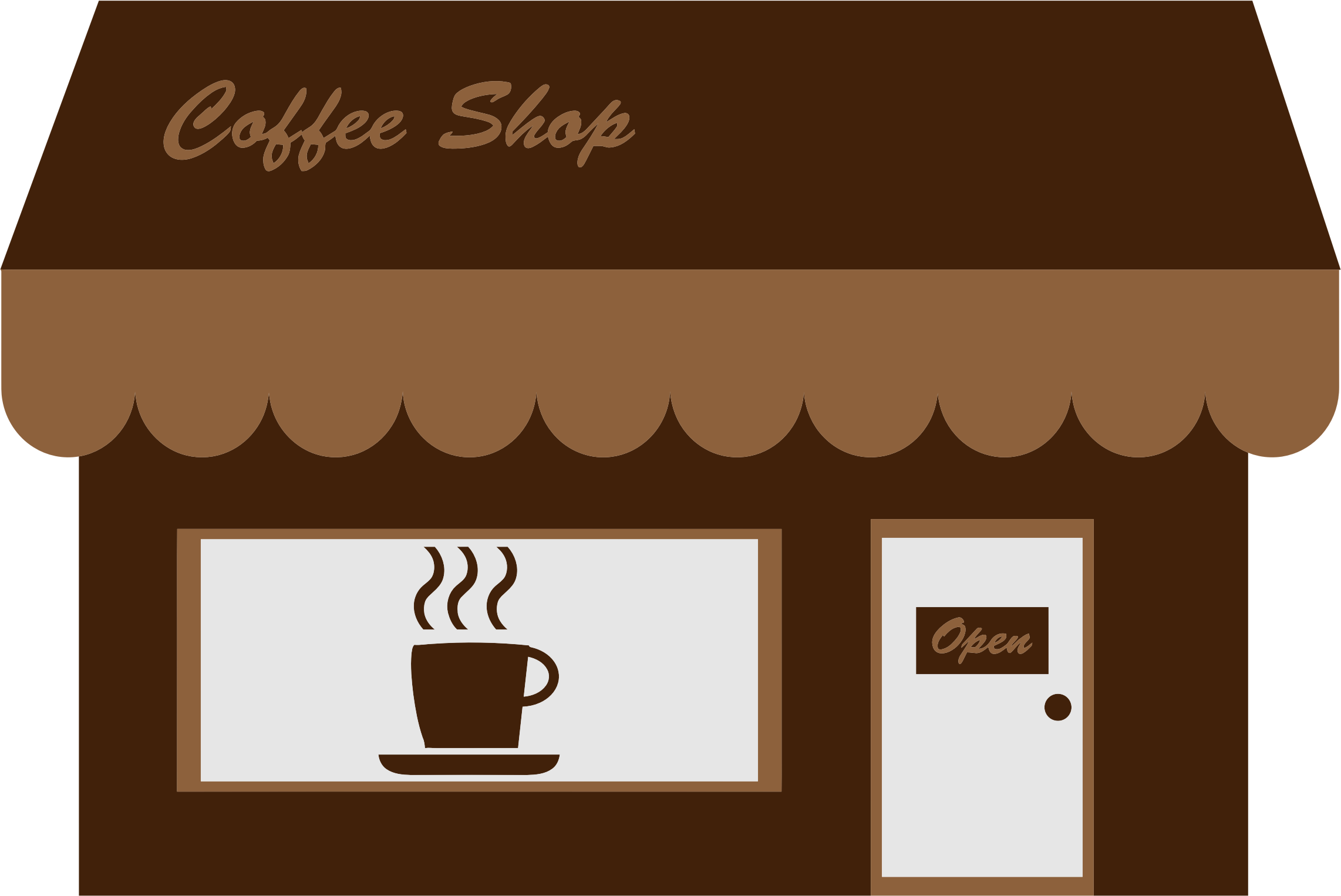 Cafe clipart coffee shop. Storefront big image png